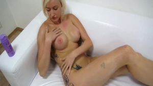 Czech blonde haired does what shes told at the casting HD