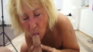 Cock sucking at the casting escorted by bubble butt czech MILF