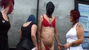 Hottest babe goes for fetish humiliation in public