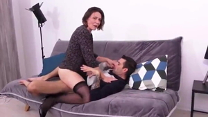 MILF helps with cock sucking HD