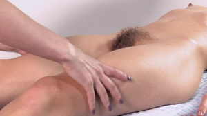 Hairy girl softcore massage HD