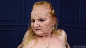 Loud sex with shaved granny