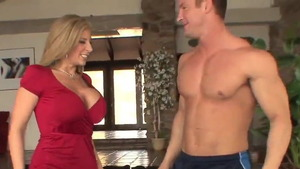 Real fucking together with big tits american stepmom Sara Jay