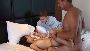 Slamming hard in company with super hot asian hotwife