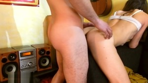 Beautiful french amateur licks big cock