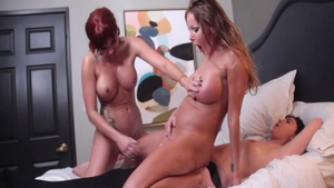Amber Taylor playing with toys