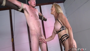 Big ass mature Brandi Love restraint bondage edging